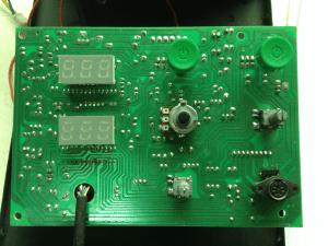 Lukey 852D+FAN плата управления - вид спереди