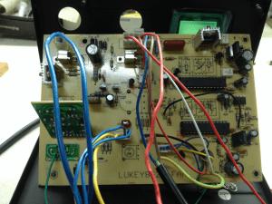 Lukey 852D+FAN плата управления - вид сзади