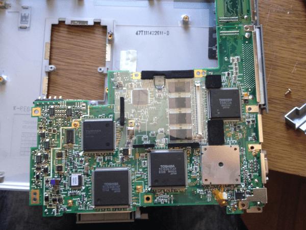 Toshiba Satellit 100CS motherboard материнка Тошиба Сателлит разборка ноута