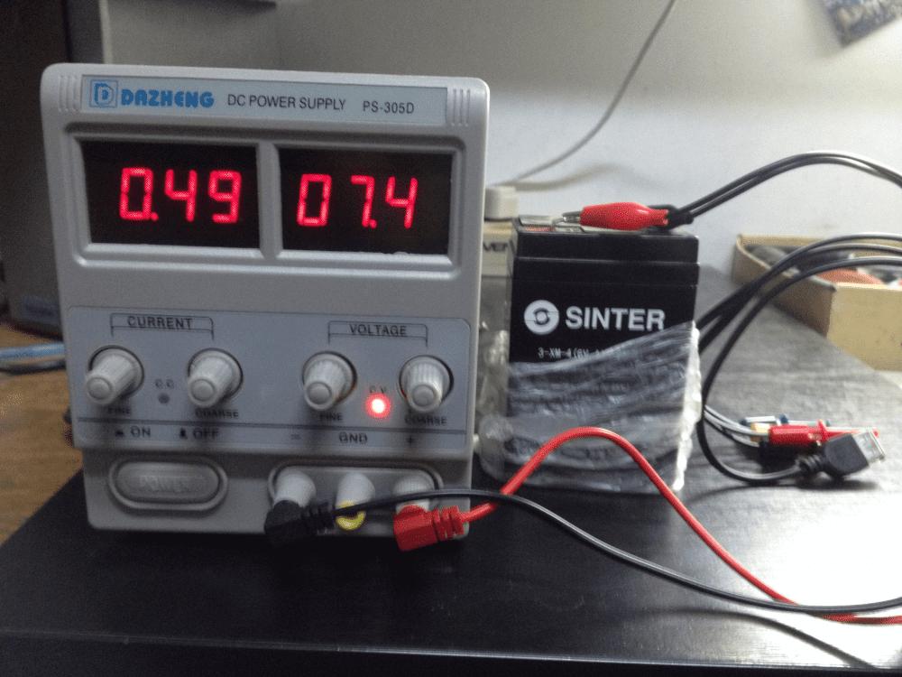 Зарядка аккумулятора на блоке питания PS-305D