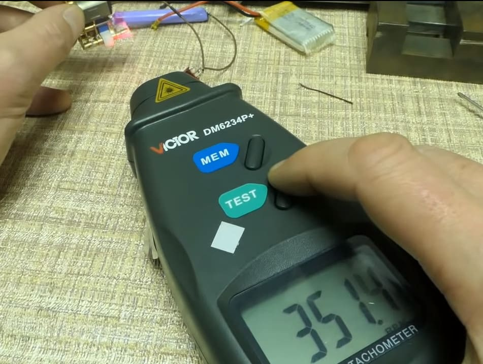 частота вращения вала ваз-2108 замер лазерным тахометром