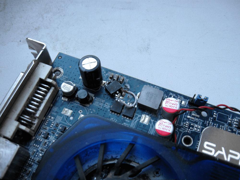 Ремонт видеокарты замена транзистора инженерные приколы