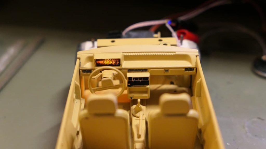 подсветка приборов для модели ваз 2108 в масштабе 1:24 на радиоуправлении Hachette model rc