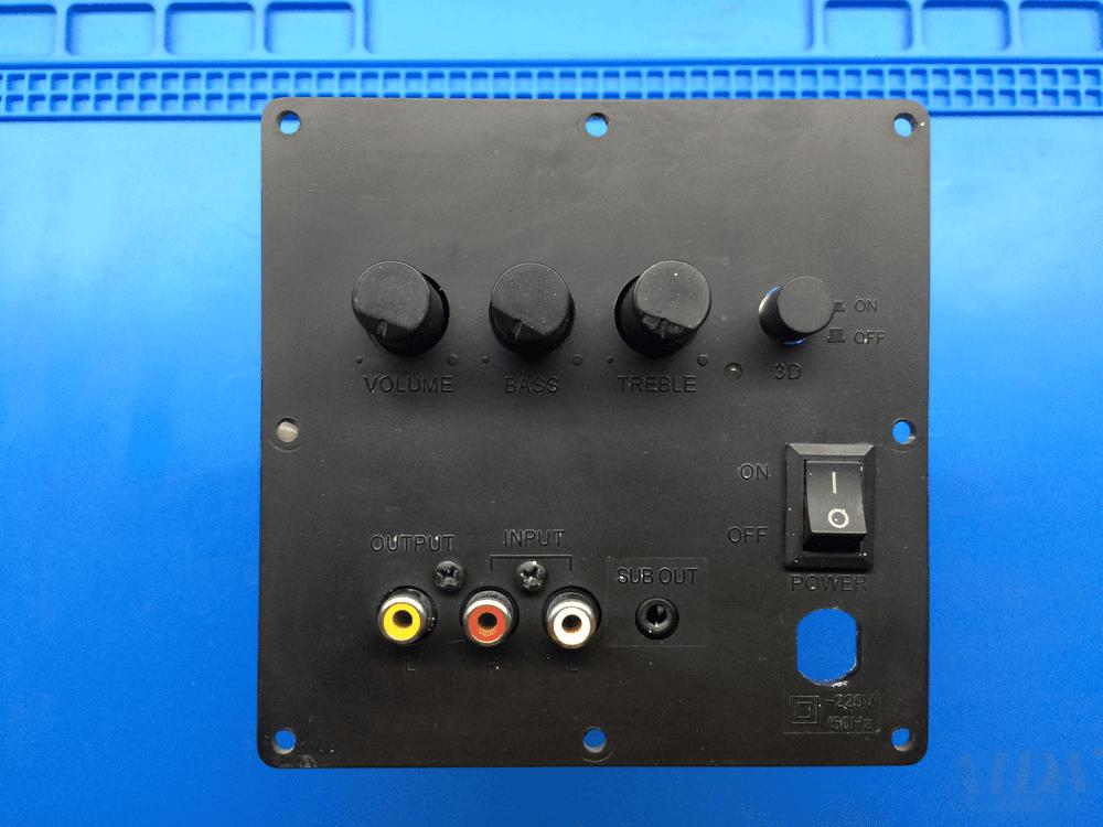 Задняя панель усилителя колонок Sven tda2030 Sven