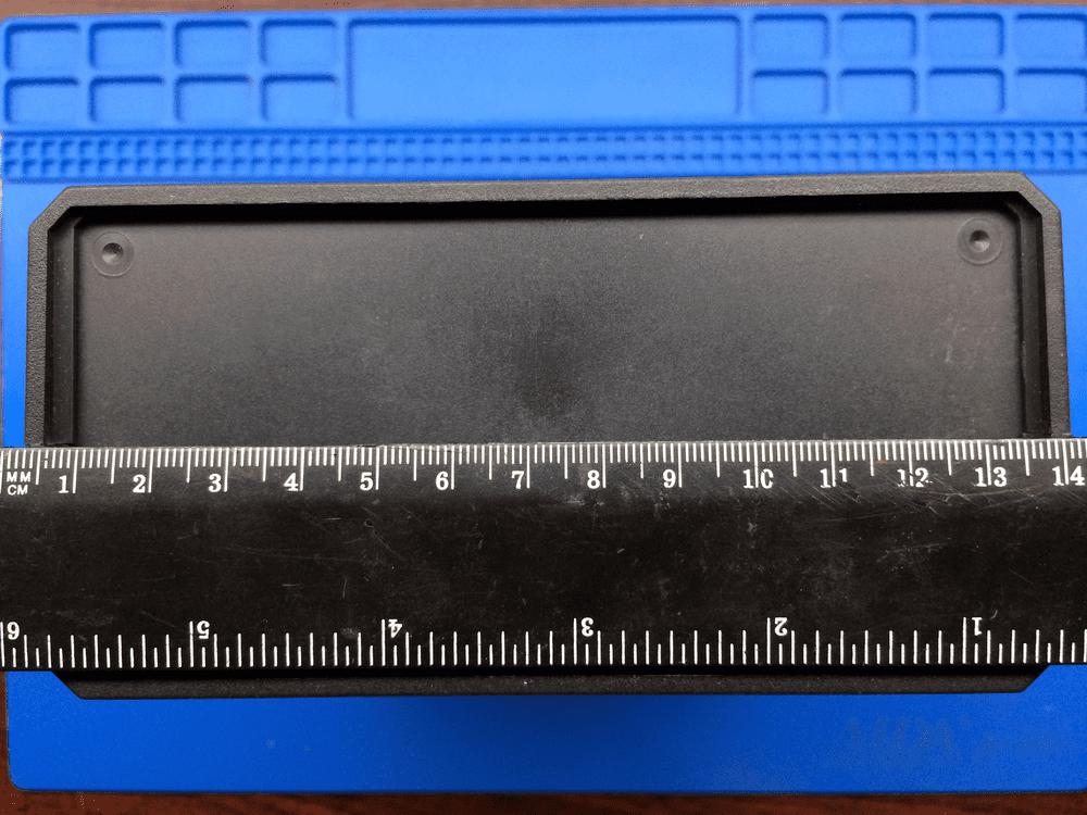 Передняя панель корпуса до переделки размеры усилитель звука tda2030