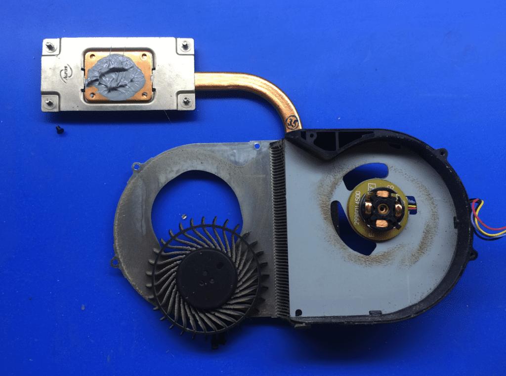 Смазка вентилятора системы охлаждения ноутбука Леново
