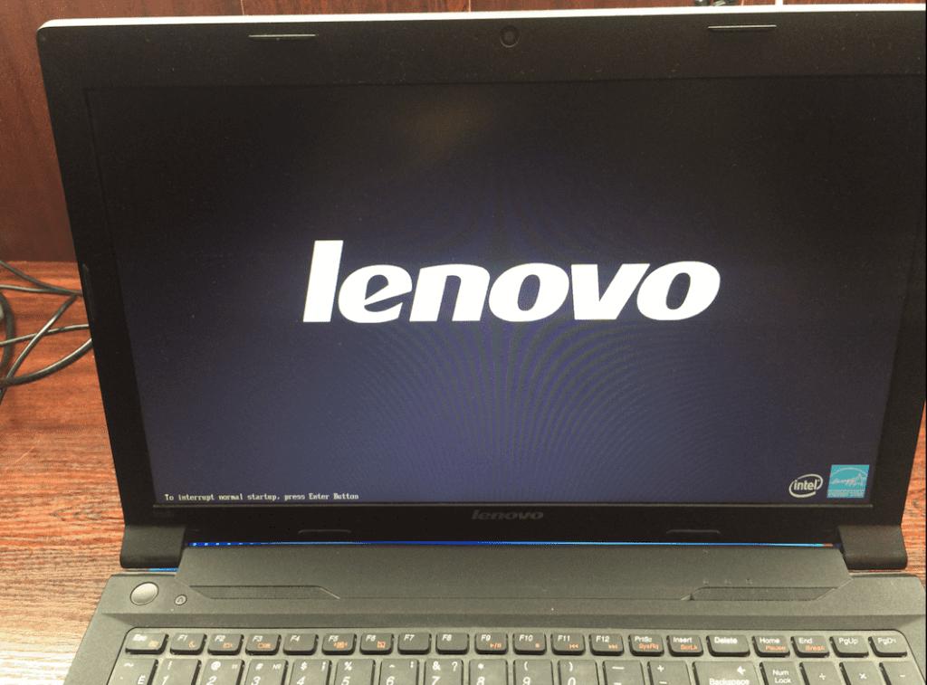 Ноутбук Леново включение после чистки