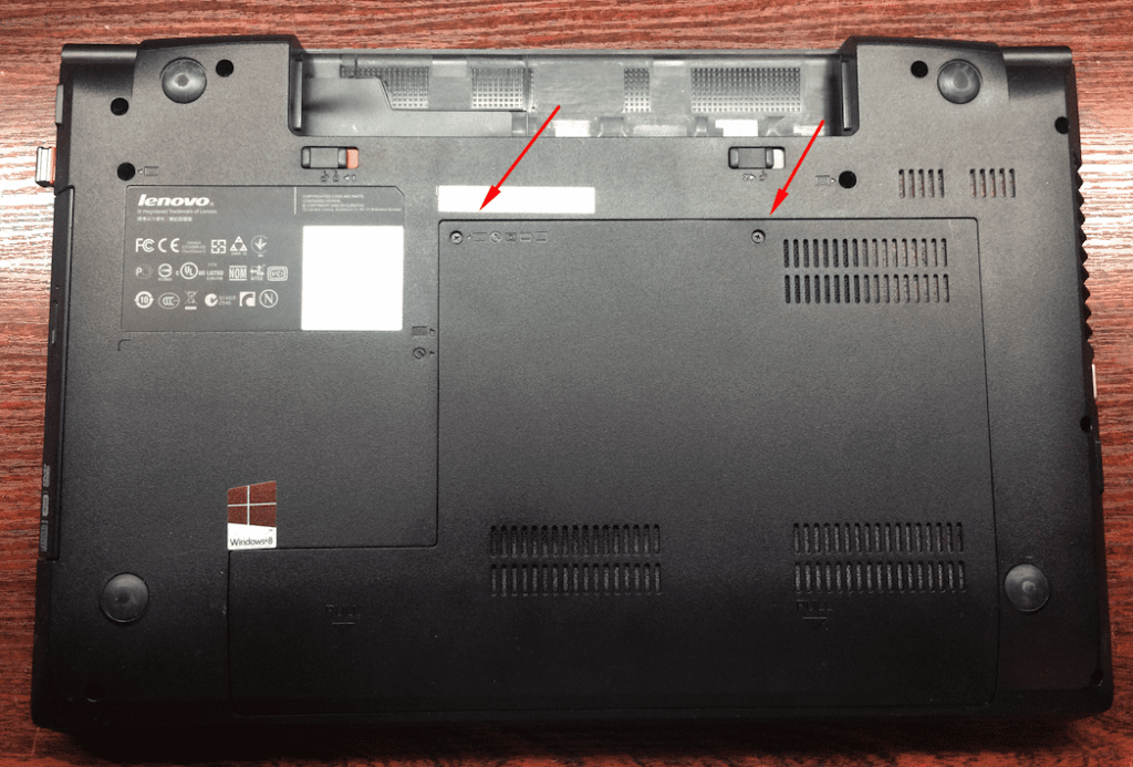 Lenovo B590 снятие задней крышки ноутбука Леново