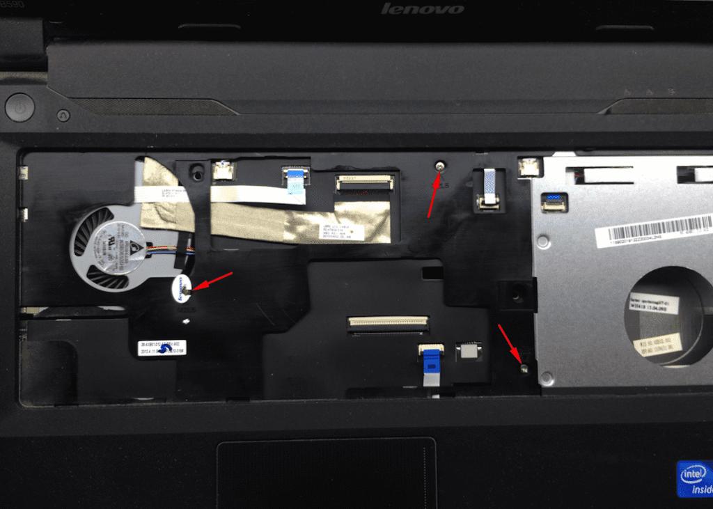 Lenovo винты верхней крышки ноутбука разборка Леново
