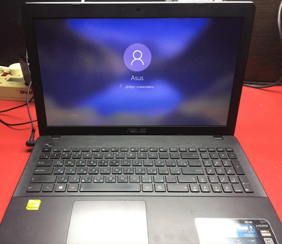 Ноутбук Asus R513Cl после ремонта отключения встроенной памяти
