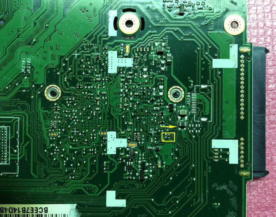 Страп отключения памяти Асус X550CL PCB_ID0