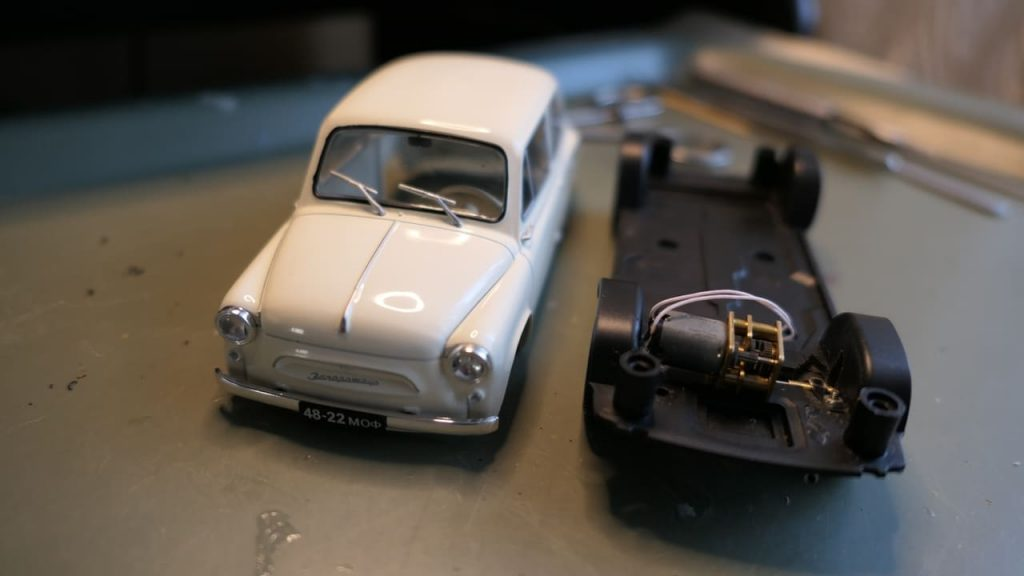 Горбатый Запорожец ЗАЗ-965 модель 1:24 Ашет Легендарные советские автомобили конверсия модели на радиоуправлении