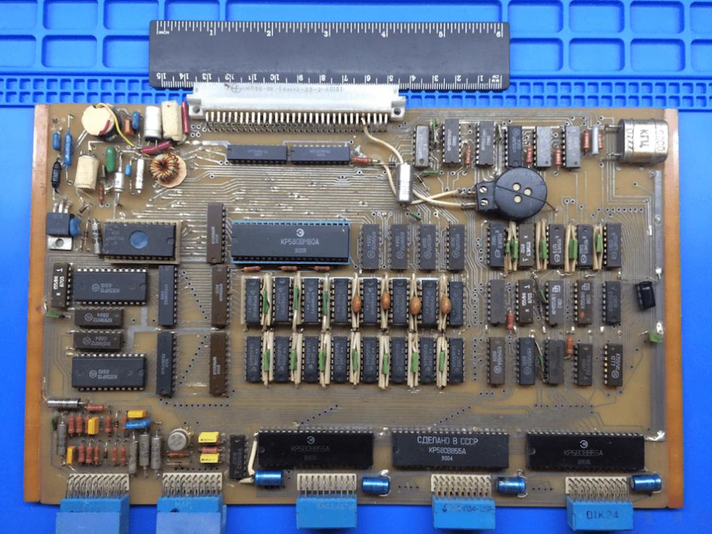 Собранный ПРК Орион-128 на КР580ВМ80А