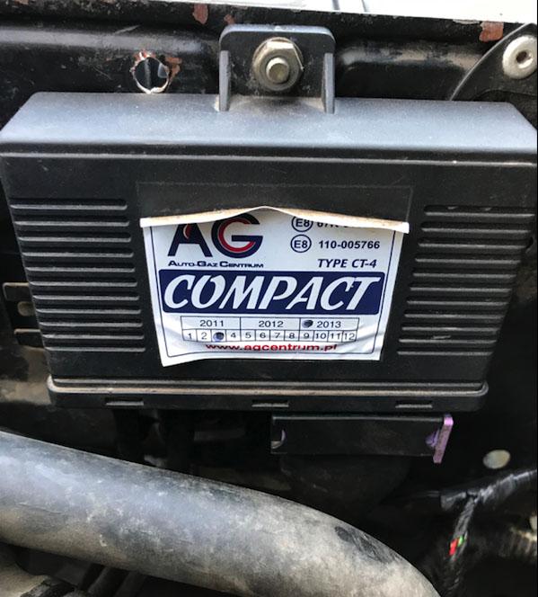 Блок управления газовым оборудованием автомобиля AG Compact Type CT-4 фирмы Zenit
