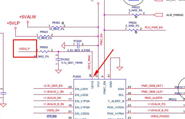 LV5075AGQV напряжения питания части микросхемы стабилизатора напряжения 1.2 вольта  поступающее на ногу 28 VSYS
