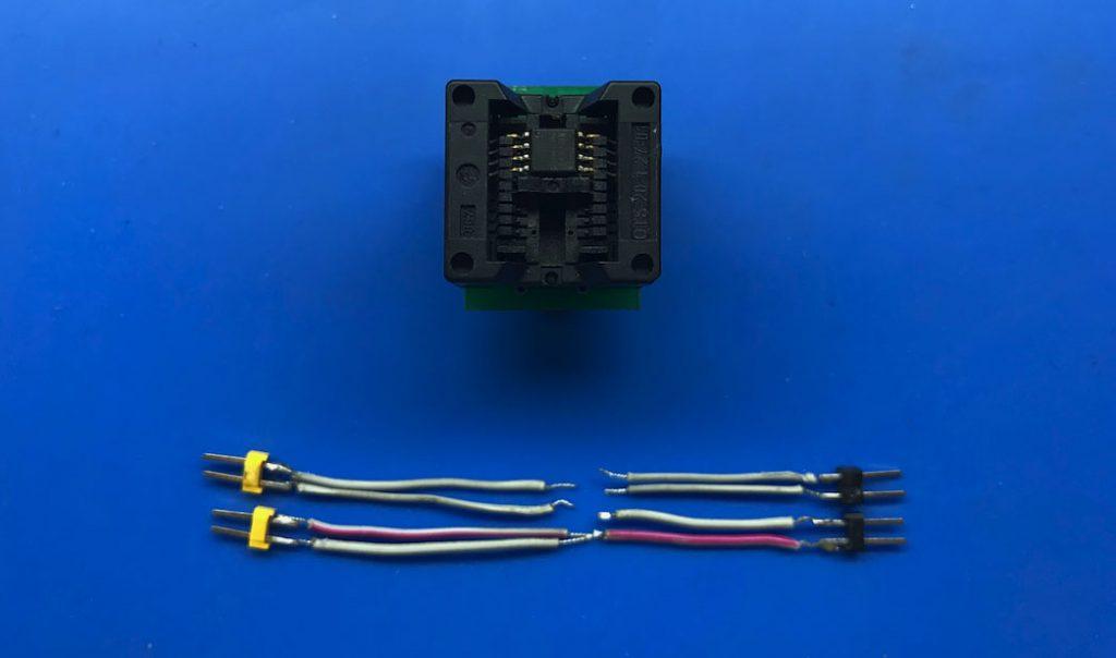 Насадка переходник SOIC8 SOP8 на DIP8 с шагом 200mil для микросхем роутеров и ее заменитель из подручных средств