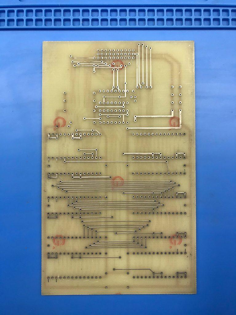 Печатная плата внешнего диск для Orion-128 на 8 К573РФ5 не паяная.