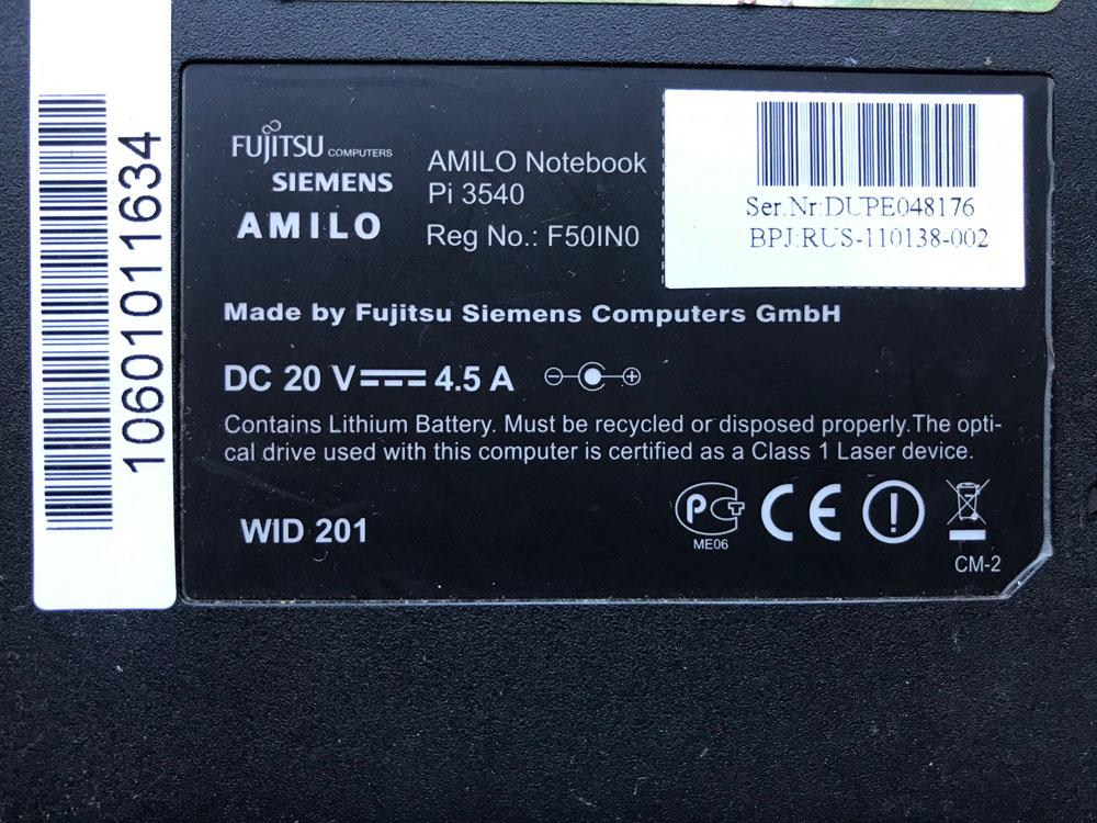 Динамик для macbook pro 2011 из Fujitsu Siemens AMILO Pi 3540 как донор