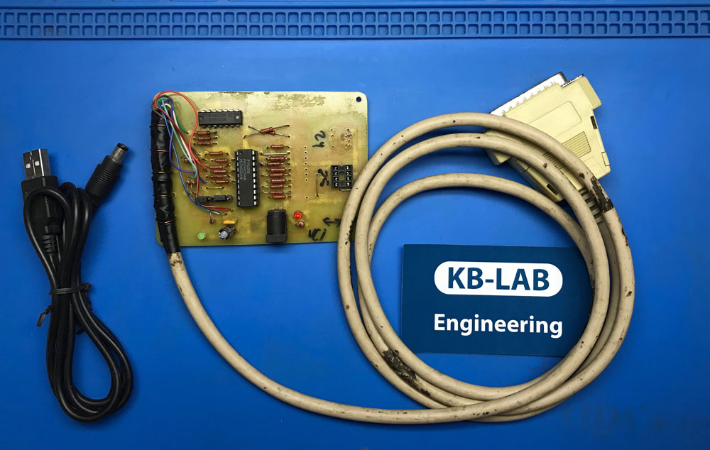 LPT программатор Postal2 на  74HC05 и 74HC244 для EEPROM 25xx и 24xx