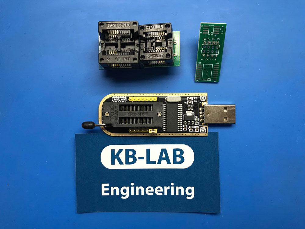 Программатор CH341A и колодки dip8 to SOIC8 150mil и 200mil