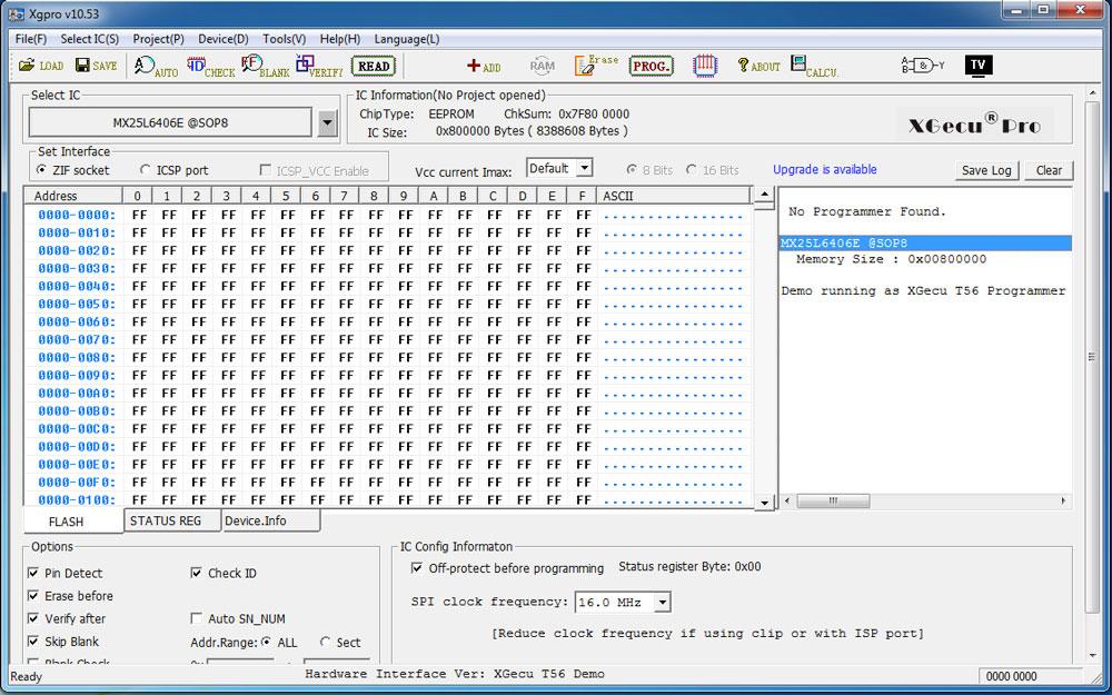 Управляющая программа от программатора Xgecu PRO и TL866II Plus
