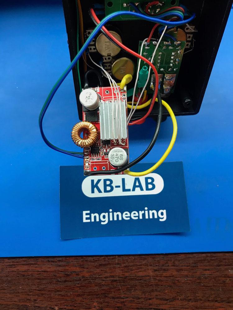 Подключение модуля стабилизатора напряжение XL4015 в зарядном устройстве
